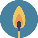 match, fire, Flame SteelBlue icon