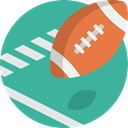Ball, sport, american, Football LightSeaGreen icon