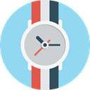 time, watch, Clock, han, handwatch SkyBlue icon