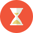 Hourglass, test, monitor, late, time, hurry, Business, Fast, work Tomato icon