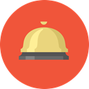 customer service, ring, Business, important, retail, Service, bell Tomato icon