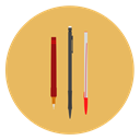 pencil SandyBrown icon