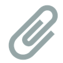 Paperclip DarkGray icon