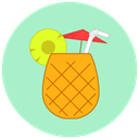 pineapple, food, Fruit, summer, Beach Icon