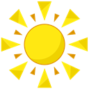 summer, sun, Beach Gold icon