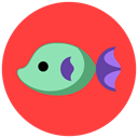 sea, fish, summer, Animals Tomato icon