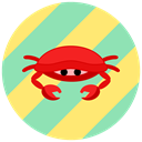sea, summer, Animals, ocean, Crab LightGreen icon
