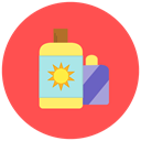 summer, hot, sun block, Beach, Bottle Tomato icon
