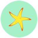 sea, summer, Beach, star PowderBlue icon