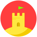 sand, vacation, Castle, summer, Beach Tomato icon