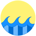 summer, waves, Sunny, sea, ocean Khaki icon