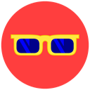 Beach, sunglasses, hot, summer, sun Tomato icon