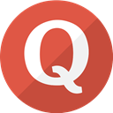Quora, red, Social, question, simple, modern IndianRed icon