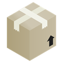 Box, Brown, cardboard, package Tan icon