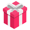 pink, Ribbon, Box, gift Black icon