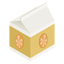 pack, Juice, Orange Black icon