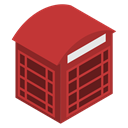 red, london, phone, relephone, Box Firebrick icon