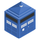 doctorwho, police, Tardis, Box, Blue, Cabin SteelBlue icon