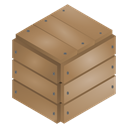 Box, sealed, wood RosyBrown icon