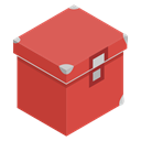 tools, red, Box, storage IndianRed icon