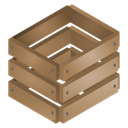 crate, wooden, Brown Sienna icon