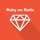 web, web technology, ruby, rails, long shadow, Back-end, programming language Tomato icon