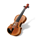 instrument, music, Fiddle, Violin Black icon