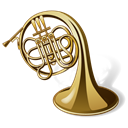 Trumpet, Horn, music, Tuba, instrument Black icon
