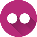 flickr, Social MediumVioletRed icon