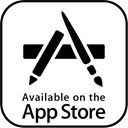 storre, on, Apple, app store logo, App, Application, Appstore, the, Available Black icon