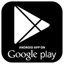App, on, google play, google, market, Android, play Black icon