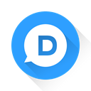 Disqus, d DodgerBlue icon
