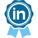 social media, Social, social network, Linkedin Teal icon