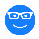 Glasses, Face DodgerBlue icon