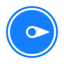 east, compass DodgerBlue icon