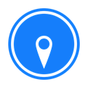 south, compass DodgerBlue icon
