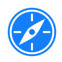 compass DodgerBlue icon