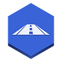navigation RoyalBlue icon