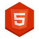 html5 OrangeRed icon