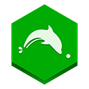 dolphin, Browser Green icon