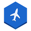flight RoyalBlue icon