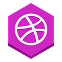 Dribble MediumOrchid icon