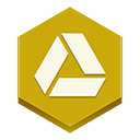 drive, google Goldenrod icon