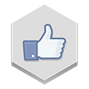 Facebook, Like Gainsboro icon