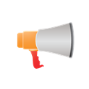speech, Comment, talk, marketing, Chat, Message, web, megaphone, Be heard, voice, seo Black icon