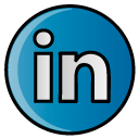 Social, Linkedin, Linked in, In, hayal, linked DarkCyan icon