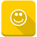 positive, smile, happy, Emoticon, smiley, Sunny, happy smile, Emotion Gold icon