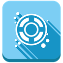 Designfloat, Design, Float LightSkyBlue icon