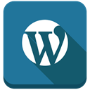 blog engine, Wordpress, blog DarkCyan icon