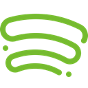 music, Spotify YellowGreen icon